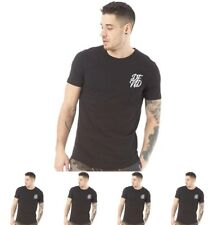 OFFERTA DFND London Mens Base T-Shirt Black Small Chest 36-38""