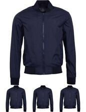 """OFFERTA French Connection Mens Baseball Jacket Marine Blue Small Chest 36-38"""""""