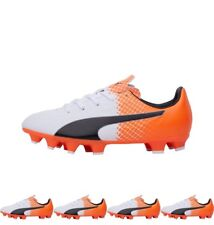 NEW Puma Junior evoSPEED 4.5 FG Football Boots White/Black/Orange UK 3 Euro 35.5