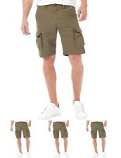 NEW JACK AND JONES Mens Preston Cargo Shorts Olive Night Small Waist 30""