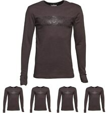 DI MODA Duck and Cover Mens Baldwin Long Sleeve T-Shirt Anthracite Marl Small C