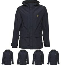 BRAND Lyle And Scott Vintage Mens Microfleece Lined Jacket Navy Jacket X-Small