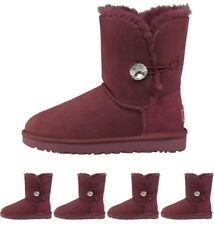 BRAND UGG Womens Bailey Button Bling Boots Bougainvillea UK 3.5 Euro 36