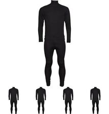 DI MODA Trespass Mens Unite 360 Thermal Baselayer Set Black Size S Waist 30-32""
