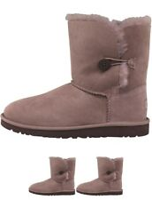 OFFERTA UGG Junior Girls Bailey Button Boots Stormy Grey UK 4 Euro 35