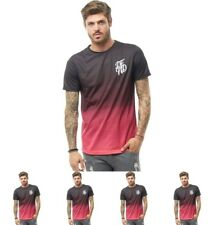 OFFERTA DFND London Mens Ombre T-Shirt Black X-Small Chest 34-36""