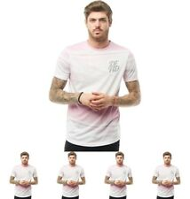 DI MODA DFND London Mens Gibson T-Shirt Pink X-Small Chest 34-36""