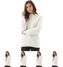 BRAND Jacqueline De Yong Womens Rabbit Long Sleeve Knitted Jumper Cloud Dancer