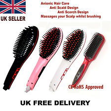 AUTOMATIC ELECTRIC LCD STYLING HAIR STRAIGHTENER NON CURLER BRUSH STRAIGHTNER