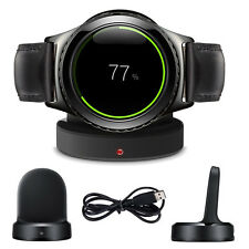 QI Wireless Charging Cradle Dock Charger Cable For Samsung Gear S2 SM R720 R732