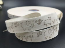 5-100 Yards animal Cotton Ribbon Design Home Party Decor DIY Sewing Craft 15mm