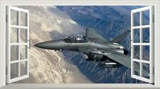 McDonnell Douglas F-15 Eagle Jet Fighter Magic Window Wall Art Adhesive Poster1*