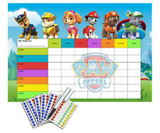 Paw Patrol Re-usable Behaviour Reward Chart (incuding stickers and pen)