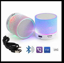 LEDLight Mini Bluetooth Speakers Wireless Bass Speaker & TF USB FM Radio from UK