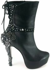 Hades Shoes - Black McQueen Steampunk Booties