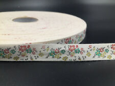 """5-100Y 5/8"""" Cotton Ribbon Design flower Home Party Decor DIY Sewing Craft 15mm"""