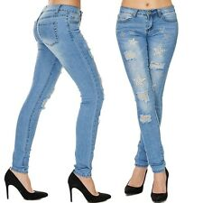 donna aderente jeans SKINNY STELLE Pantaloni a sigaretta PERLE