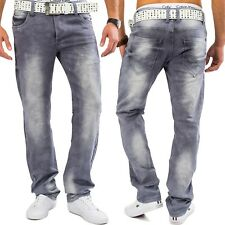 Jeans Uomo Milo sbiancato Denim Pantaloni stretch COMFORT REGULAR FIT JEANS