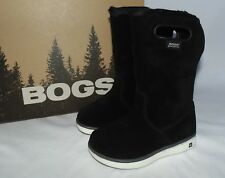 Bogs Toddler Size 7 or 8 Boga Boots Black Suede Leather Winter Snow Waterproof
