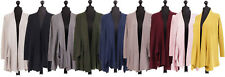 New Italian Ladies Women Waterfall Knitted Cardigan One Size fits 10 12 14 16