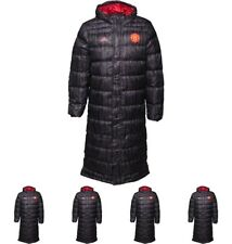 FASHION adidas Mens MUFC Manchester United Long Down Jacket Black/Real Red X-Sm