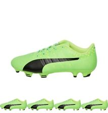 NEW Puma Junior evoPOWER Vigor 3 FG Football Boots Green Gecko/Black/Safety Yel