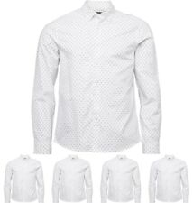 OFFERTA Peter Werth Mens Thornhill Pattern Shirt White Small Chest 35-37""