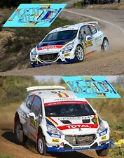 Calcas Peugeot 208 Rally Ypres 2017 1:32 1:43 1:24 1:18 64 87 decals Wagemans