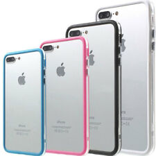 "Bumper custodia cover TPU bordi colorati per iPhone 7 8 Plus 5.5"" tasti metallo"