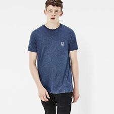 G-Star Raw Classic Beautiful Regular Pocket Straight Fit Blue Pin Stripe T-Shirt