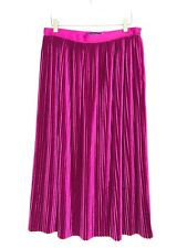 ZARA PLEATED VELVET MIDI SKIRT SIZE M L REF 2298 201
