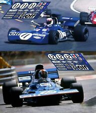 Calcas Tyrrell 002 003 GP France 1971 11 12 Slot decals Stewart Cevert