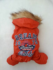 Small pet dog warm winter clothes Chihuahua Waterproof puppycoat Yorkie Size S