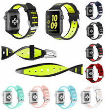 For Apple Watch Series 1 2 3 42/38mm iWatch Soft Silicone Wrist Sport Band Strap