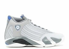Scarpe NIKE AIR JORDAN 14 RETRO SPORT BLUE in pelle grigia 487471-004