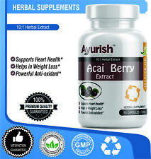 Acai Berry Extract 10:1 Herbal Extract 500 mg Capsule Helps in Weight Loss