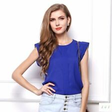 Womens Blouses Chiffon Clothing Summer Lady Blouse Shirt Sale New Fashion Ruffle