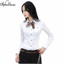 Shirts Women Tops And Blouses 2016 New Fashion Top Femme  Turn-Down Collar Long