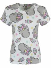 Pusheen 'Ice Cream' Womens ROLLED SLEEVE T-SHIRT - Nuevo y Oficial