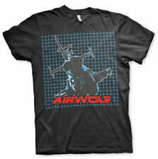 Officially Licensed Airwolf- Airwolf Pattern Men's T-Shirt S-XXL Sizes