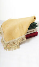Julia Traditional Thick Luxury Table Covers Tablecloth With Fringe Round Square