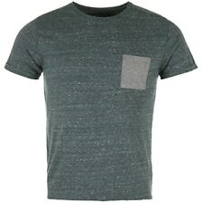 Tee shirt Neppy vert chiné Homme Crossby