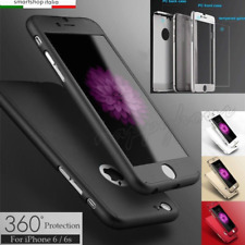 COVER CUSTODIA FRONTE RETRO + PELLICOLA VETRO TEMPERATO 360° Per Iphone 5-5S;6;7