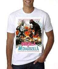 NEW GODZILLA VS MECHAGODZILLA VINTAGE MOVIE POSTER T-SHIRT