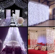 3*3M Connectable Fairy String Icicle Curtain Light Wedding Party Xmas Diwali Eid