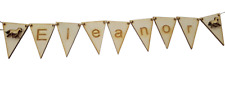Horse Personalised Bunting Flags, Equestrian End Flags -Choice of Name