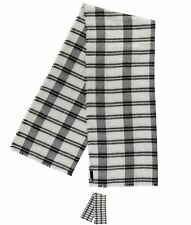 MODA Rock and Rags Checked Scarf Black/White
