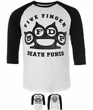 SPORTIVO  Official Five Finger Death Punch Raglan T Shirt Mens Los Angeles