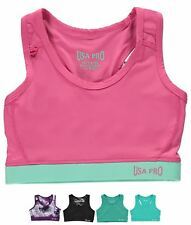 MODA USA Pro Fitness Crop Top Junior Girls Black