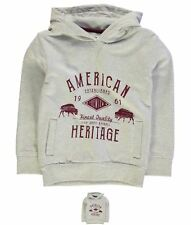 SPORTIVO  Crafted Printed Hoody Child Boys Oatmeal